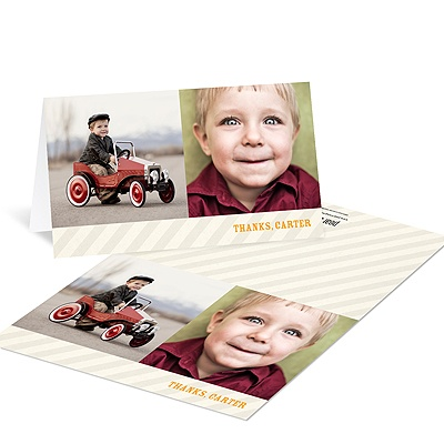 Subtle Stripes - Kids Birthday Thank You Cards