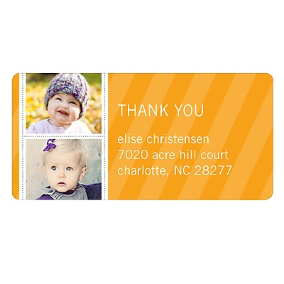 Photo Strip Kids Return Address Labels