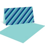 Vibrant Stripes Kids Birthday Thank You Notes