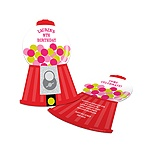 Gumball Machine Goodness -- Childrens Birthday Party Invitations