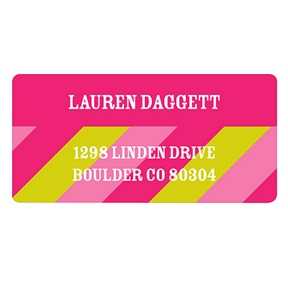 Vibrant Stripes -- Kids Return Address Labels