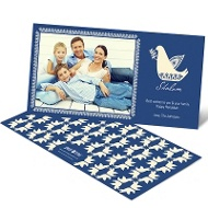 Delightful Doves Photo Hanukkah Cards