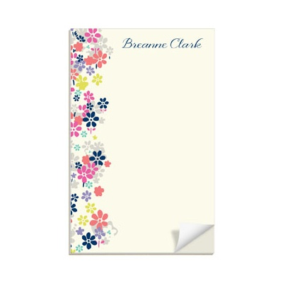 Beautiful Blossoms Custom Notepads