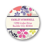 Monogram Blossoms -- Flower Address Labels