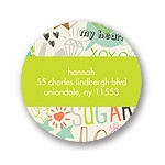 Doodle Charm -- Round Return Address Labels