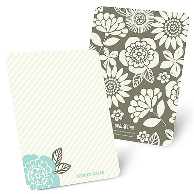 From Stripes to Flowers Personalized Stationery Note Cards