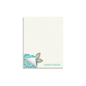 From Stripes to Flowers -- Custom Notepads