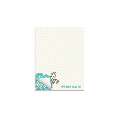 From Stripes to Flowers Custom Notepads
