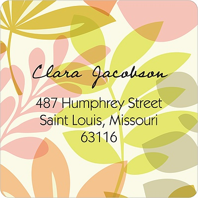 Spring Setting Colorful Address Labels