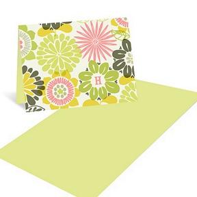 Retro Monogram Wallpaper -- Retro thank you Cards