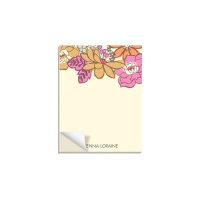 Bordered Blossoms Custom Notepads