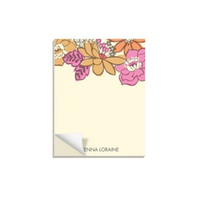 Bordered Blossoms -- Notepads