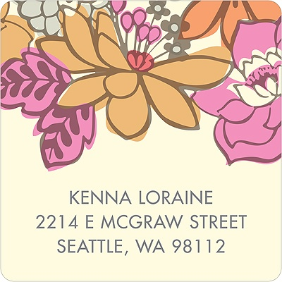 Bordered Blossoms Vintage Address Labels