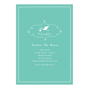 Special Delivery Boy -- Baby Shower Invitations