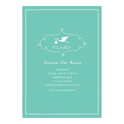 Special Delivery Boy Baby Shower Invitations