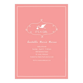 Special Delivery Girl -- Baby Shower Invitations