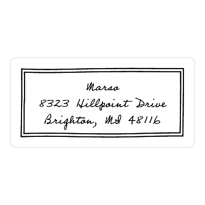 Personalized Script -- Baby Address Labels