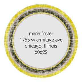 Textured Drops -- Contemporary Address Labels