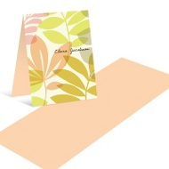 Transparent Flowers Mini Note Cards