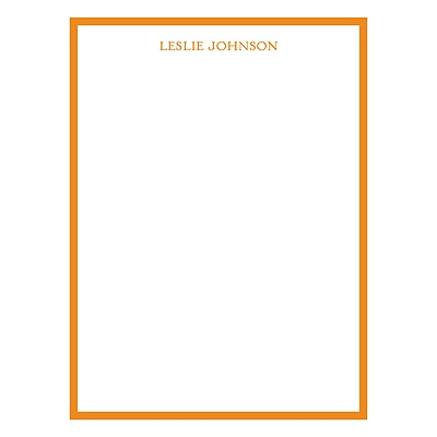 Vertical Bold Border Personalized Stationery