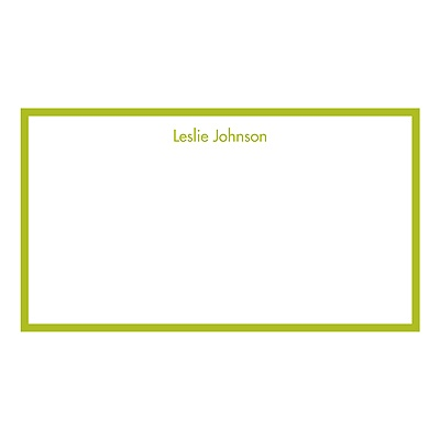 Horizontal Bold Border Personalized Note Cards