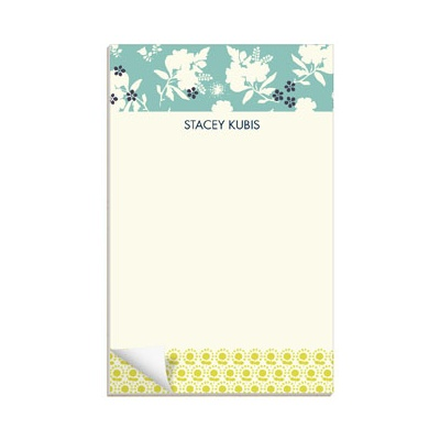 Delicate Floral Display Custom Notepads