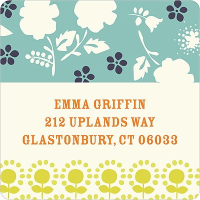 Delicate Floral Display -- Unique Return Address Labels