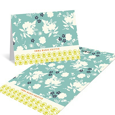 Delicate Floral Display Stationery Note Cards