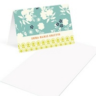 Delicate Floral Display Mini Note Cards