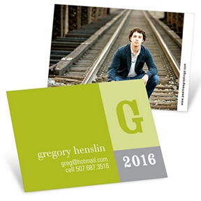 Modern Blocks -- Mini Graduation Announcements