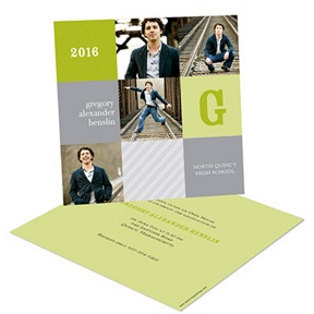 Modern Blocks -- Graduation Announcements