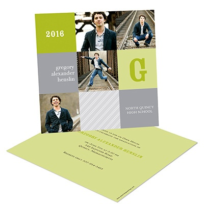 Modern Blocks -- Graduation Photo Invitations