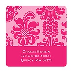 Dignified Damask -- Graduation Address Labels