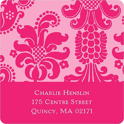 Dignified Damask Graduation Address Labels