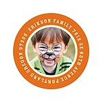 Go Round the Photo -- Halloween Return Address Labels