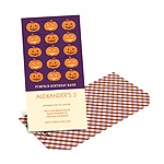 Line-up of Pumpkins -- Halloween Birthday Invitations