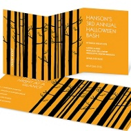 Among the Trees Adult Halloween Party Invitations