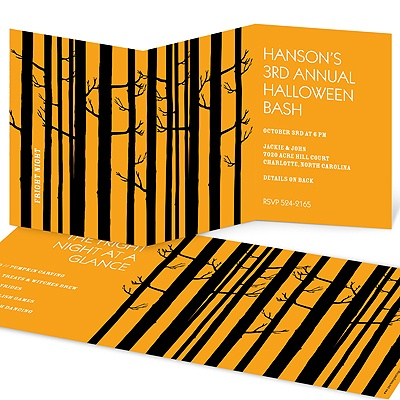 Among the Trees -- Adult Halloween Party Invitations