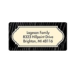 Wood Grain Greeting -- Customized Address Labels