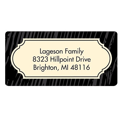 Wood Grain Greeting Customized Address Labels