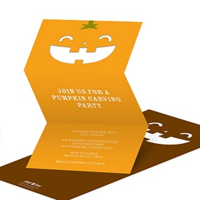 Pumpkin Cut-out -- Creative Halloween Party Invitations