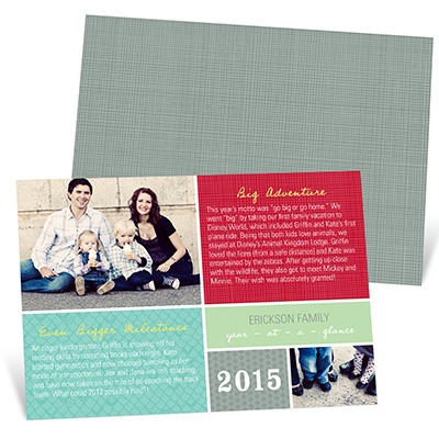 Christmas Letter Layout -- Personalized Photo Christmas Cards