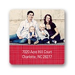 Christmas Criss Cross -- Photo Address Labels