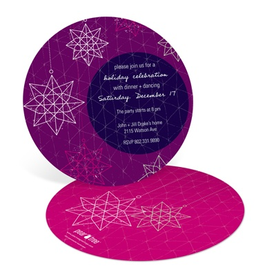 Starry and Bright Holiday Party Invitations