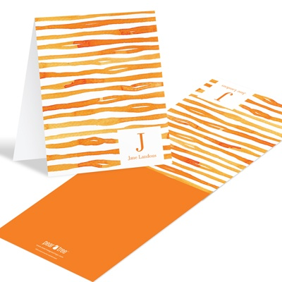 Zestful Zebra Stripes Monogram Personalized Stationery