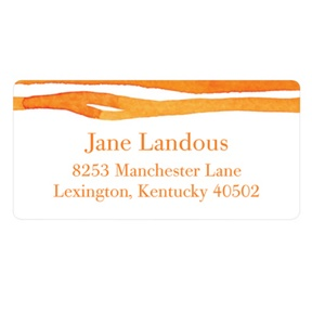 Zestful Stripes -- Trendy Address Labels