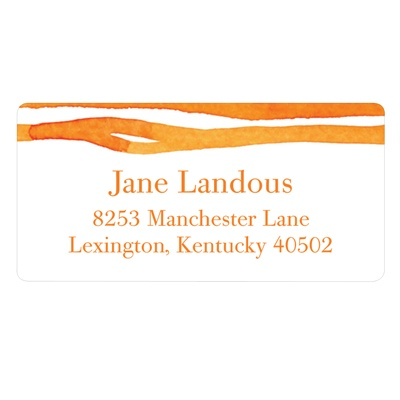 Zestful Stripes Trendy Address Labels