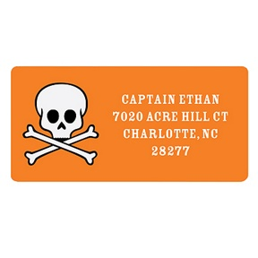 Skull Delivery -- Halloween Address Labels