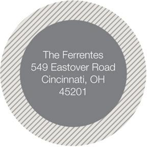 Circled Stripes -- Graduation Address Labels