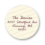 Taking Notes -- Round Address Labels